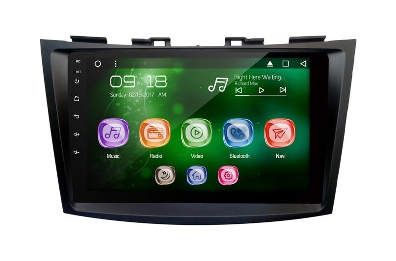 "Allways 9 ""leitor de áudio do carro da tela ips para suzuki swift 2012 android 9.0 octa-core ram 2 gb rom 32 gb com 2.5d toque completo"