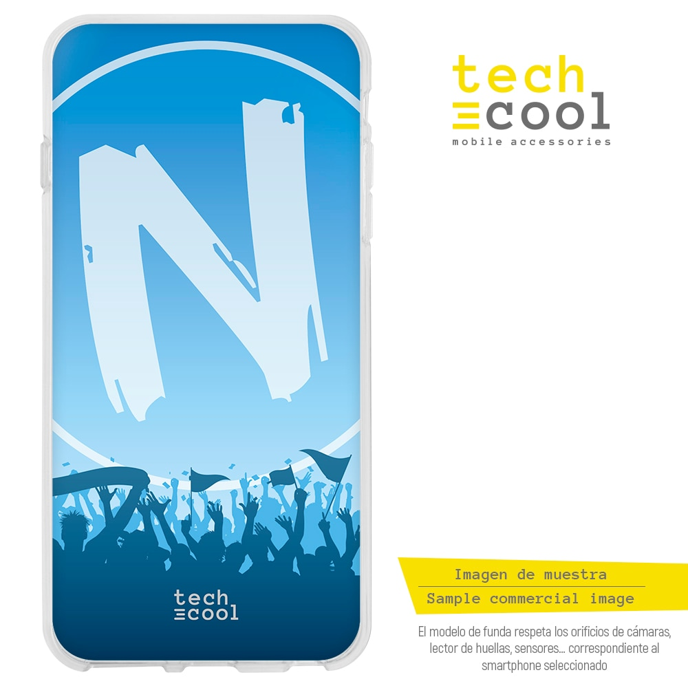 FunnyTech® Funda Silicona para Samsung Galaxy Note 9 l Forza Napoli vers.2