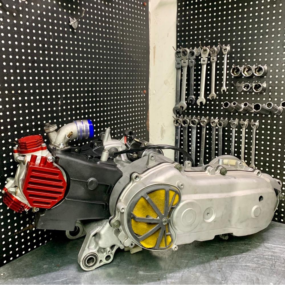 Engine kit 205cc for BWS125 ZUMA125 big bore 65mm cylinder 4 valves head in23 ex21 crankshaft 3mm forged variator bws zuma 125
