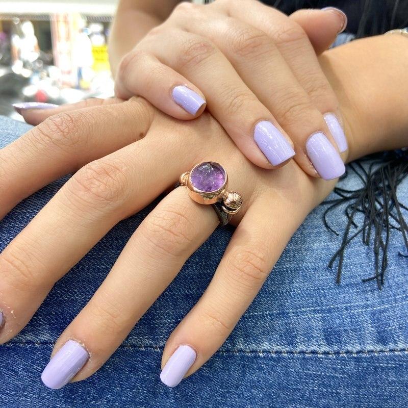 خاتم فضة مصنوع يدويًا من الأحجار الكريمة, تصميم مخصص