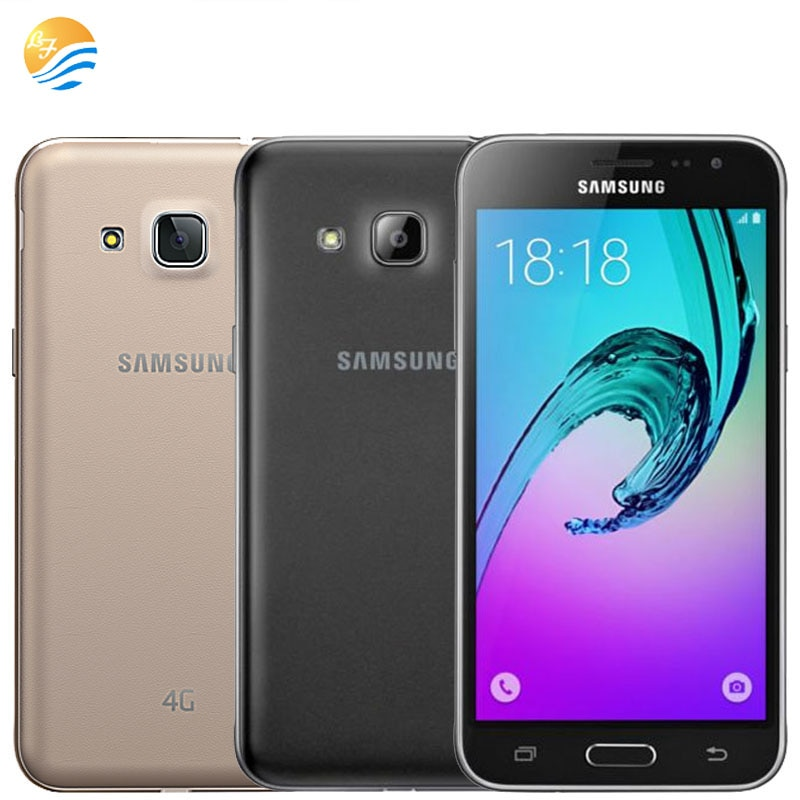 J320F Unlocked Samsung Galaxy J3 (2016) 8GB LTE android original 4G LET GPS Smartphone 8MP WI-FI Quad Core Mobile cell phones