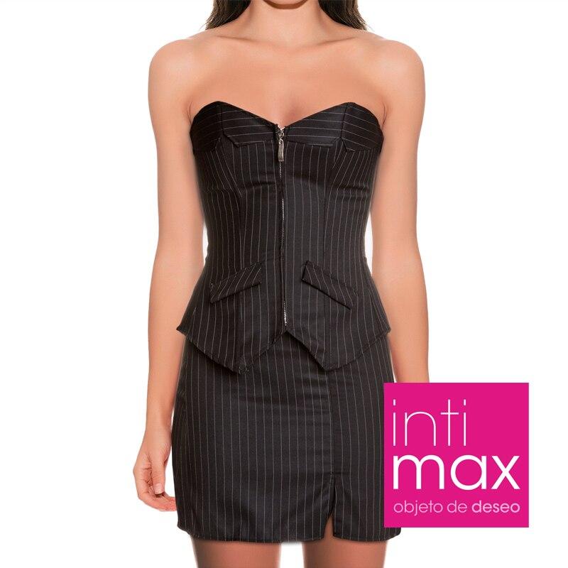 INTIMAX DIPLOMATICO corset y falda para mujer en color negro, blanco, gris o azul.