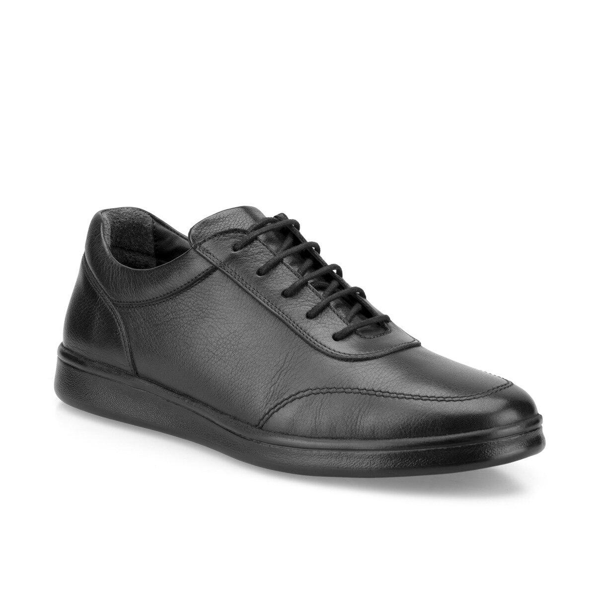 FLO 102017.M zapatos cómodos negros para hombres Polaris 5 puntos