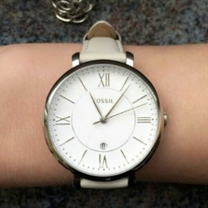 Fosil Jacqueline Ladies Original Watch Analog 3ATM Waterproof Watch Woman Modern Chic Antique Business Clock Leather Band ES3793 enlarge