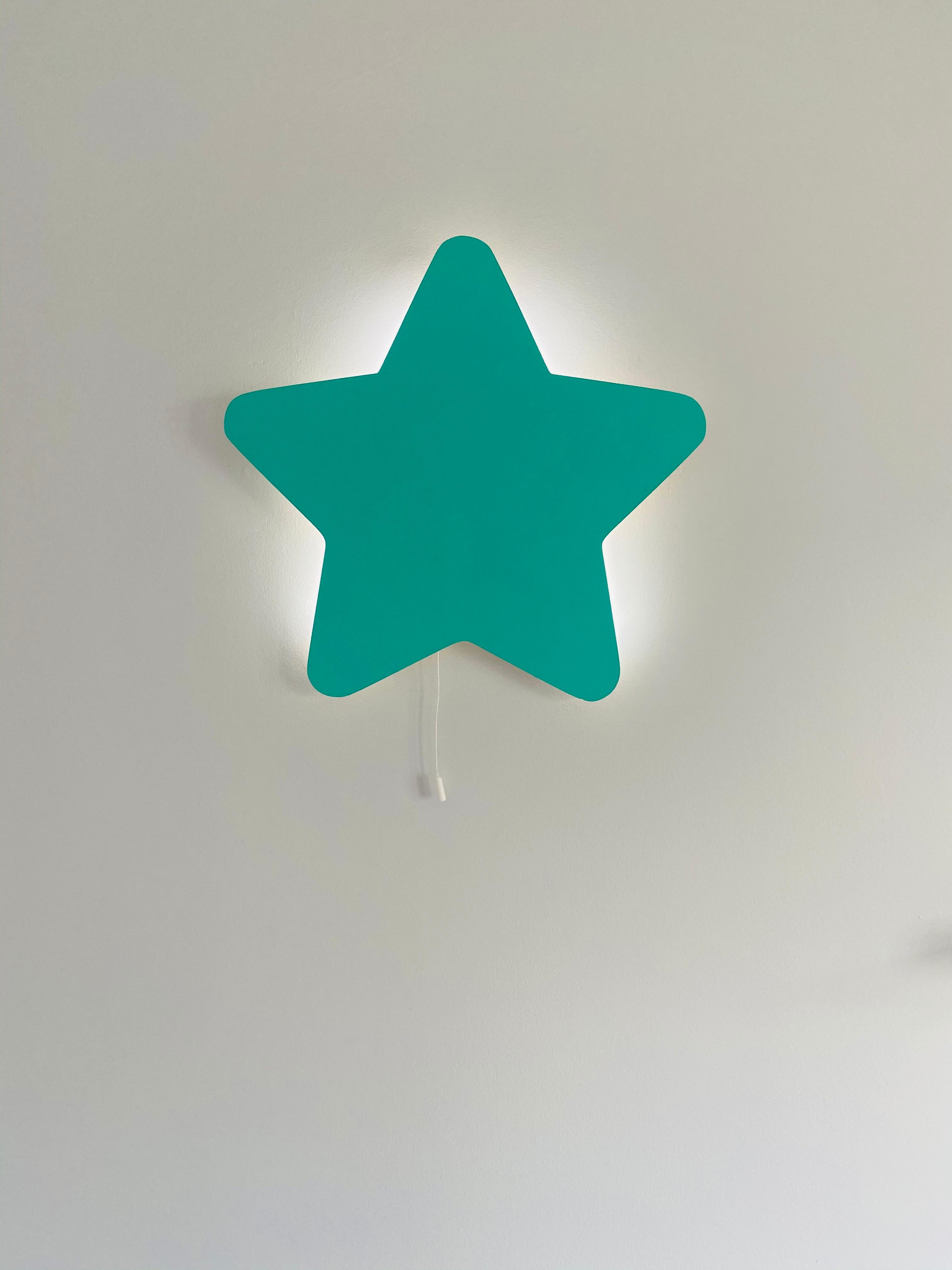Set of 2- Baby Night Lamp Set, Cloud Lamp, Star Light, Wooden Wall Light, Baby Shower Lamp, Kids Bedside Decoration enlarge