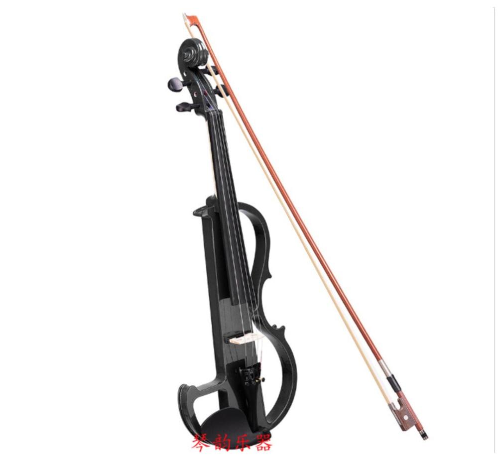 Black electronic violin electroacoustic violin solid wood senior performance stage performance enlarge