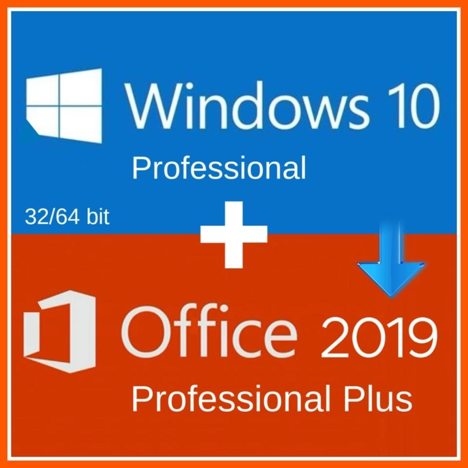Windows 10 Pro Professional + Büro 2019 Pro Plus 2019 Aktivierung CODE SCHLÜSSEL Multi-lingual