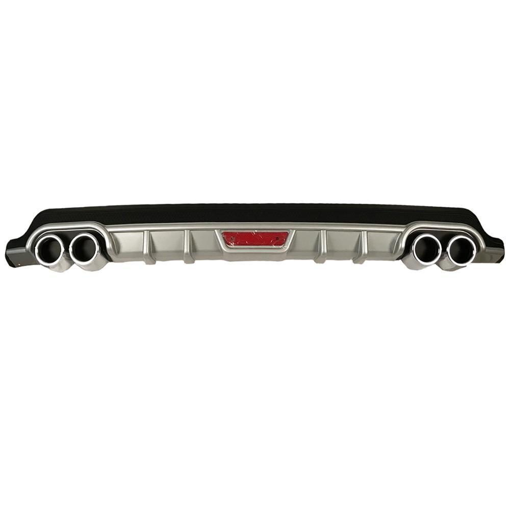 ROXFORM para difusor de parachoques trasero gris para Renault Clio 4