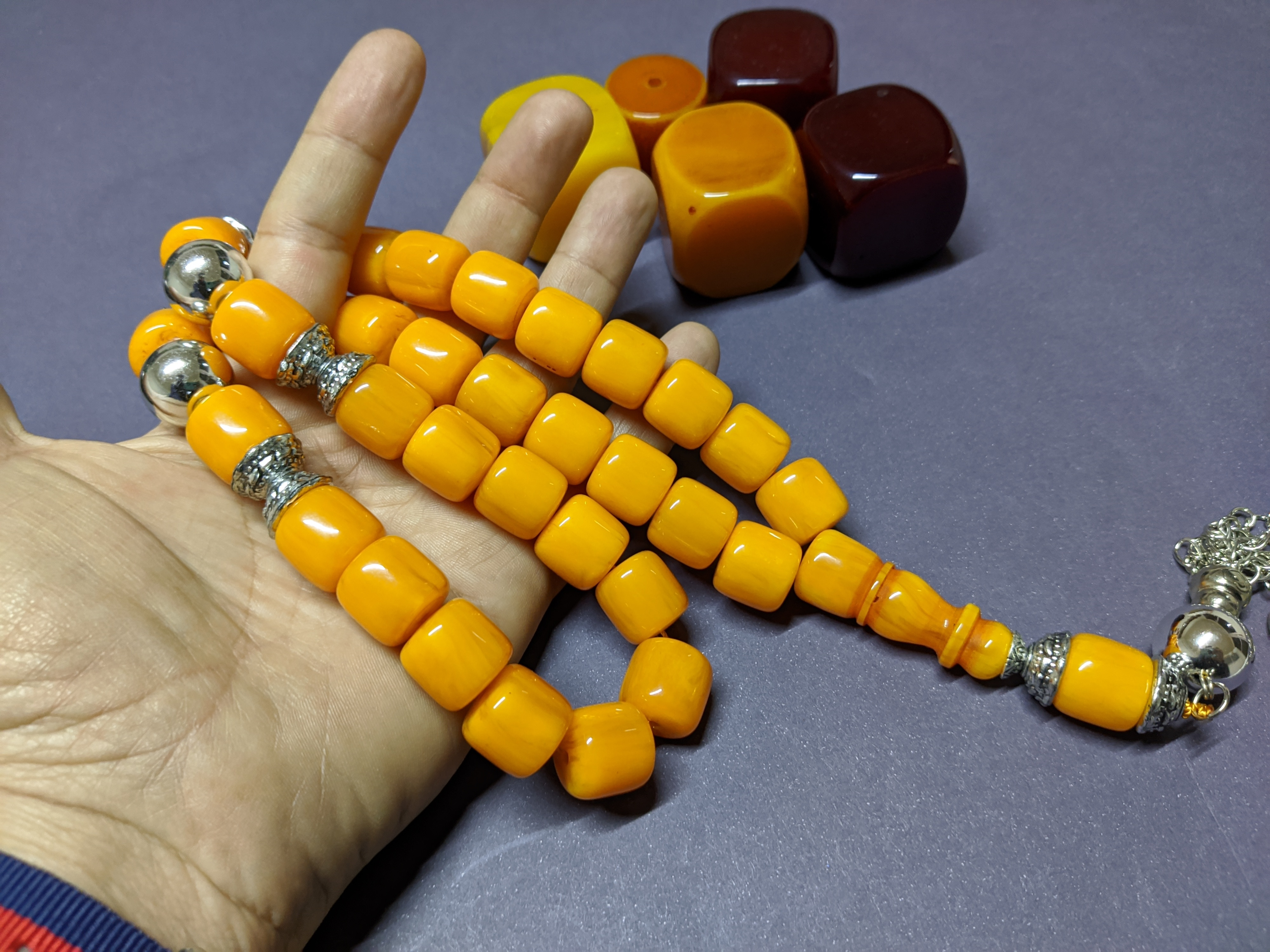 Ottoman Faturan German Amber Sandalous Misbaha Prayer Beads Islamic Gift Tasbih Tasbeeh Tasbeh Rosary Tasbih # 25A