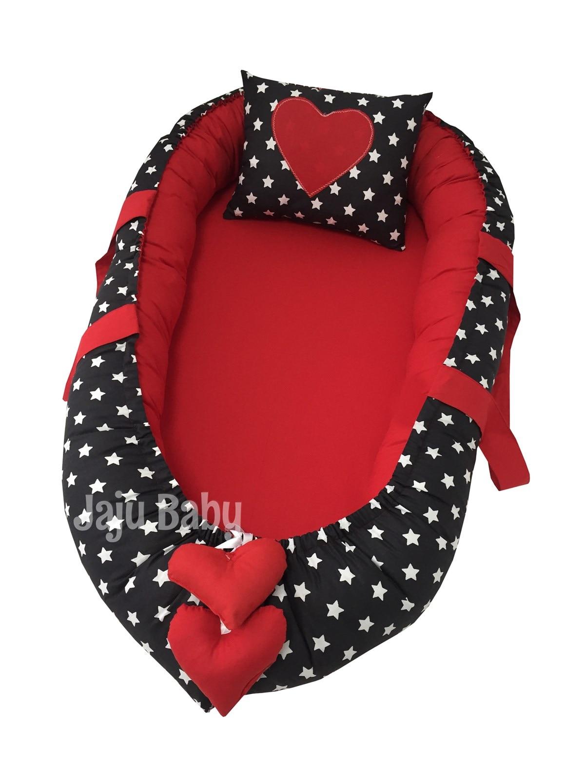 Jaju Baby Special Handmade Black Star Red Luxury Design Babynest