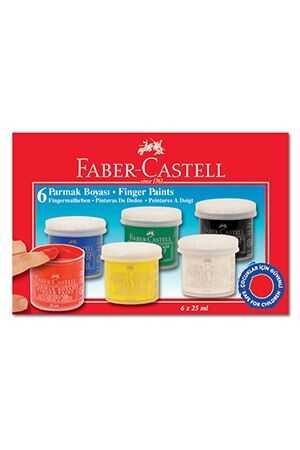Faber-Castell Finger Paint 6 Color 25 ml Finger Paint School Paint Healthy Paint
