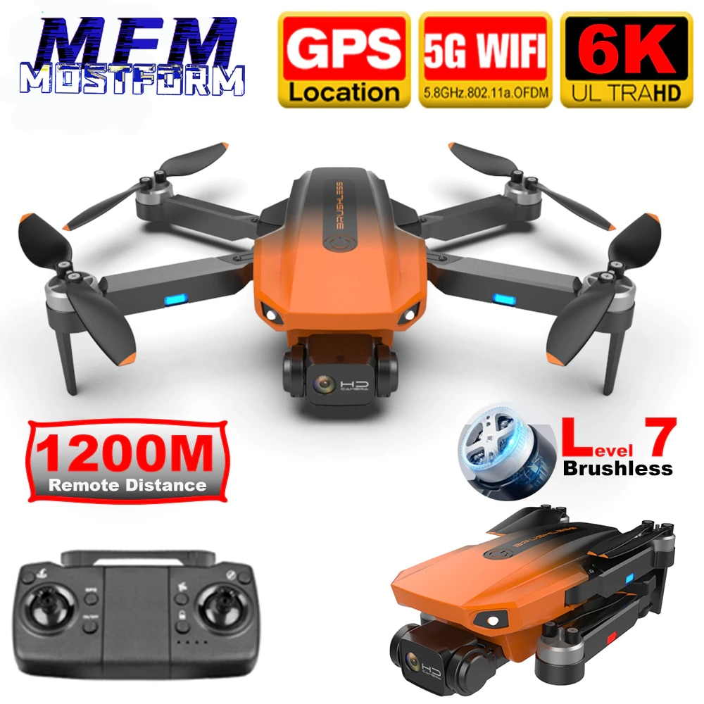 RC Camera Drone 6K GPS Anti Lost Professional Brushless 5G WiFi FPV Real Time Image 1.2KM Long Distance Quadcoper Dron RG101