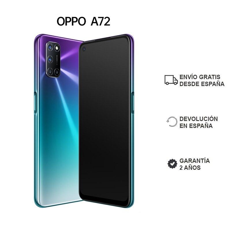 """OPPO A72 4GB/128GB Smartphone Pantalla 6.5"""" Altavoces Estéro Duales Batería 5000 mAh ColorOS 7.1 2 Años de Garantía"""