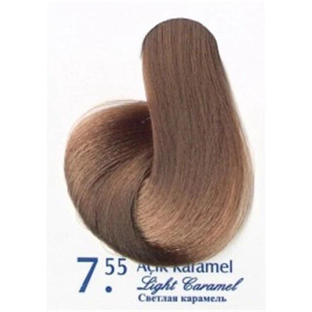 Caramelo cabelo tintura de cabelo 7.55 akos marca ao ar livre 410590840