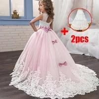 white bridesmaid girls princess dress costume party wedding dresses for girl evening children dress teen clothing vestido 3 14 y