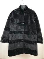 faux womens fur coat buttoned judge collar fur long thick fur