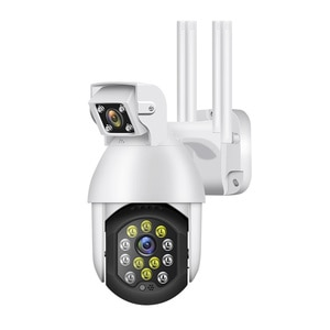 Dual Lens 1080P Mini Wifi IP PTZ Outdoor Auto Track Wireless Security Speed Dome Camera 4X Digital Zoom CCTV Surveillance Cam