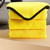 Super Absorbent Cleaning Cloth Thick Coral Fleece Non-Sticky Soft Towels Auto Glass Household Dishwashing Cleaning Towel Rags