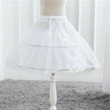 Vestido de baile de una capa para niños, enagua de encaje de crinolina, Formal, con cintura elástica y cordón