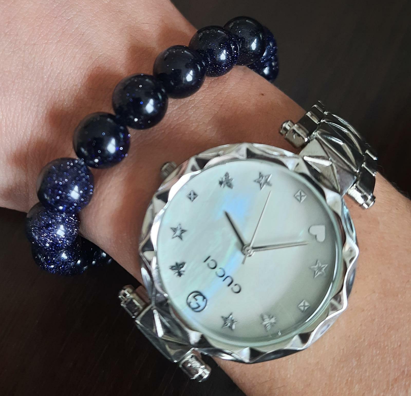 Star Natural Stone Dark Blue Bracelet For Men Trend Bracelets Beaded Bracelets For Men Gift for Dad Gift for Darling