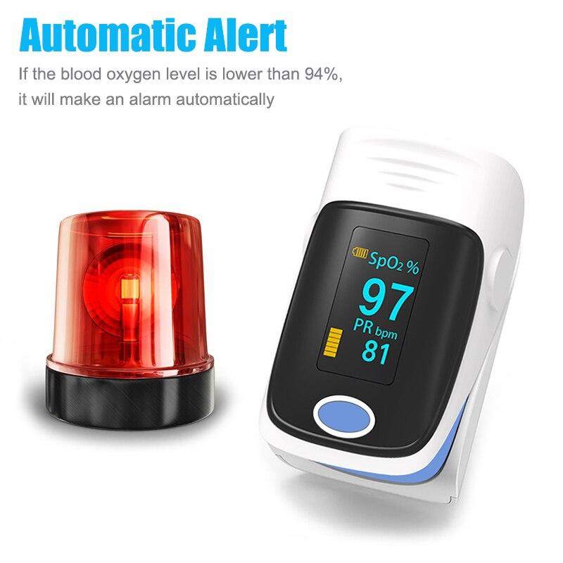 OLED Portable Finger Pulse Oximeter Household Finger Oximeter Spo2 Blood Oxygen Saturation Meter PR Heart Rate Health Monitor