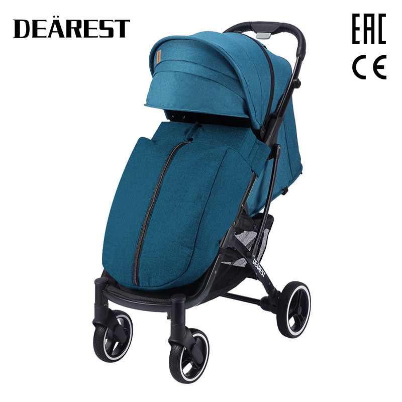 New 2021 dearest 818 Plus Baby Stroller Foldable With Wind Shield Foot Cover Four Wheels Foldable Free shipping in Russia enlarge