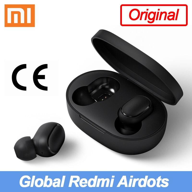 Original global xiaomi redmi airdots fones de ouvido bluetooth sem fio tws fone de ouvido xiaomi redmi