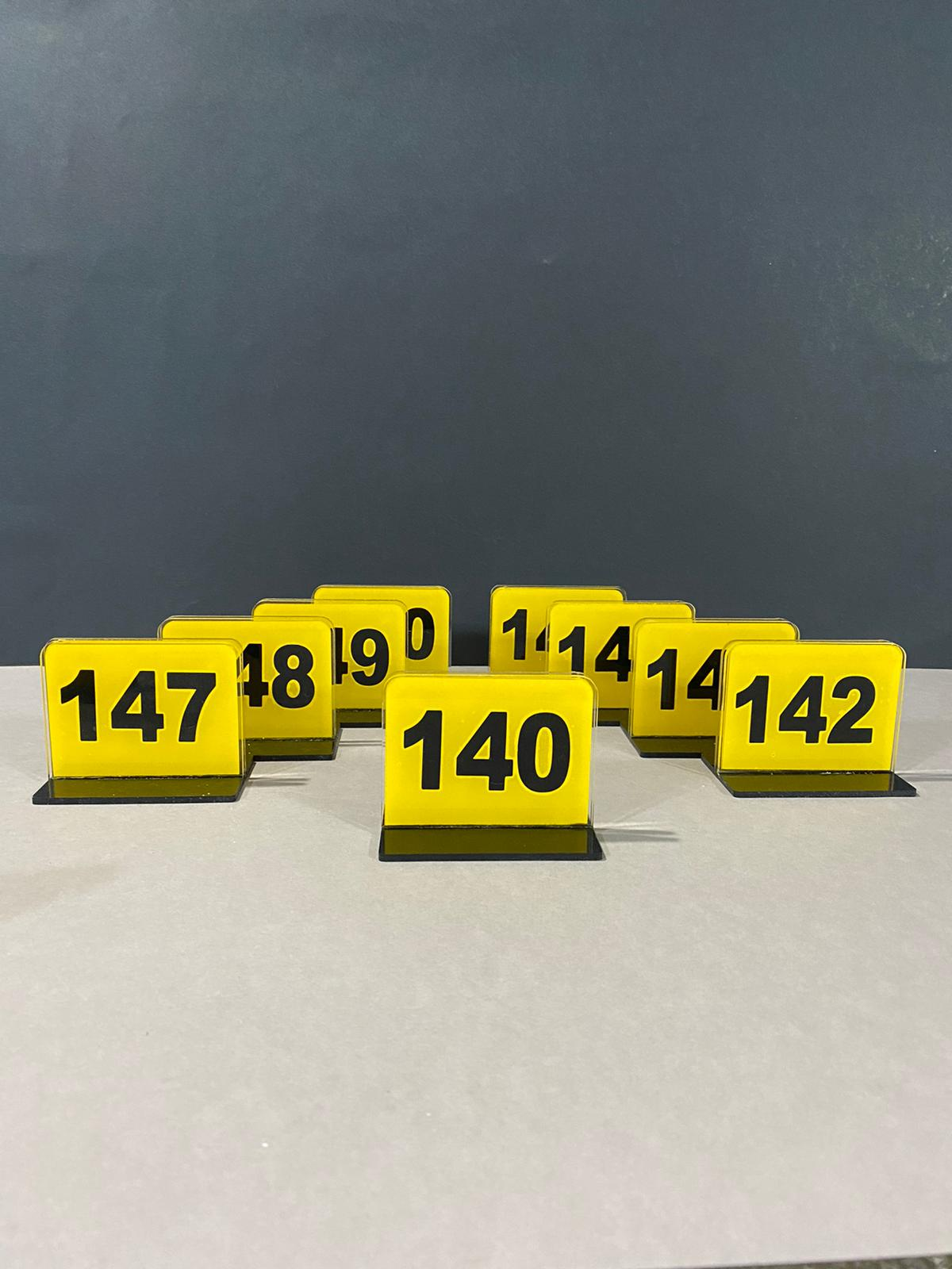 Acrylic table numbers restaurant plug holder 1-15 from number decoration reminders personalized table numerators