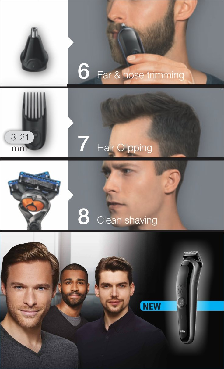 Braun MGK 5060 Multi grooming kit - 8-in-one Trimmer for precision styling from head to toe Pack of 1 MGK5060 enlarge