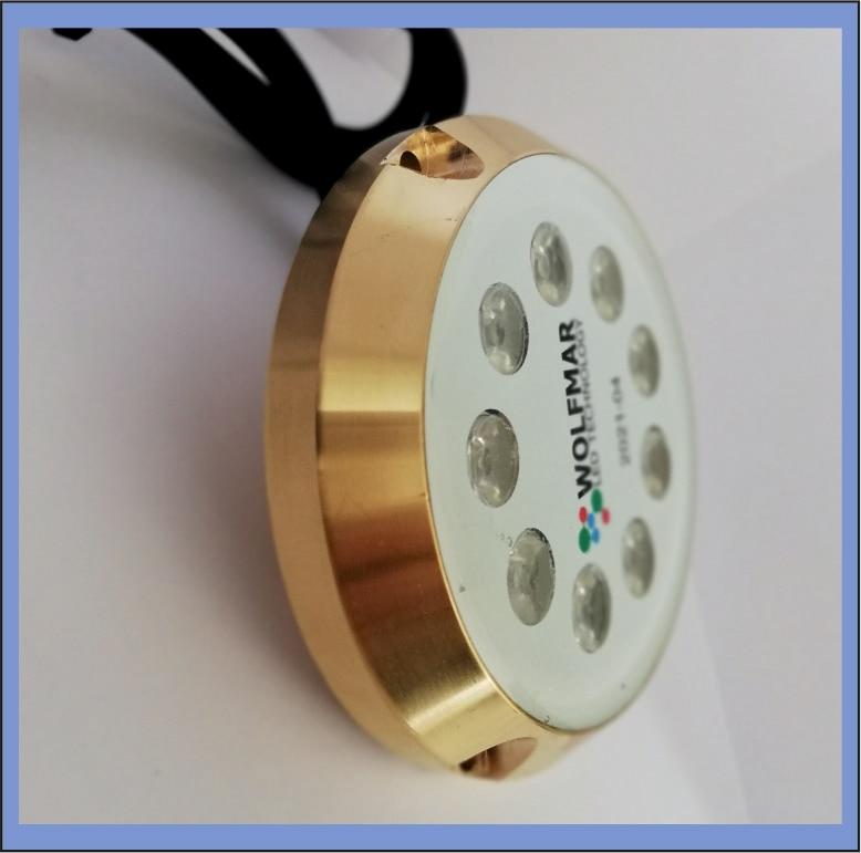 For boat and yacht underwater led Lighting 40W 9-30V supply Samsung led boat led blue color light Bronze Case enlarge