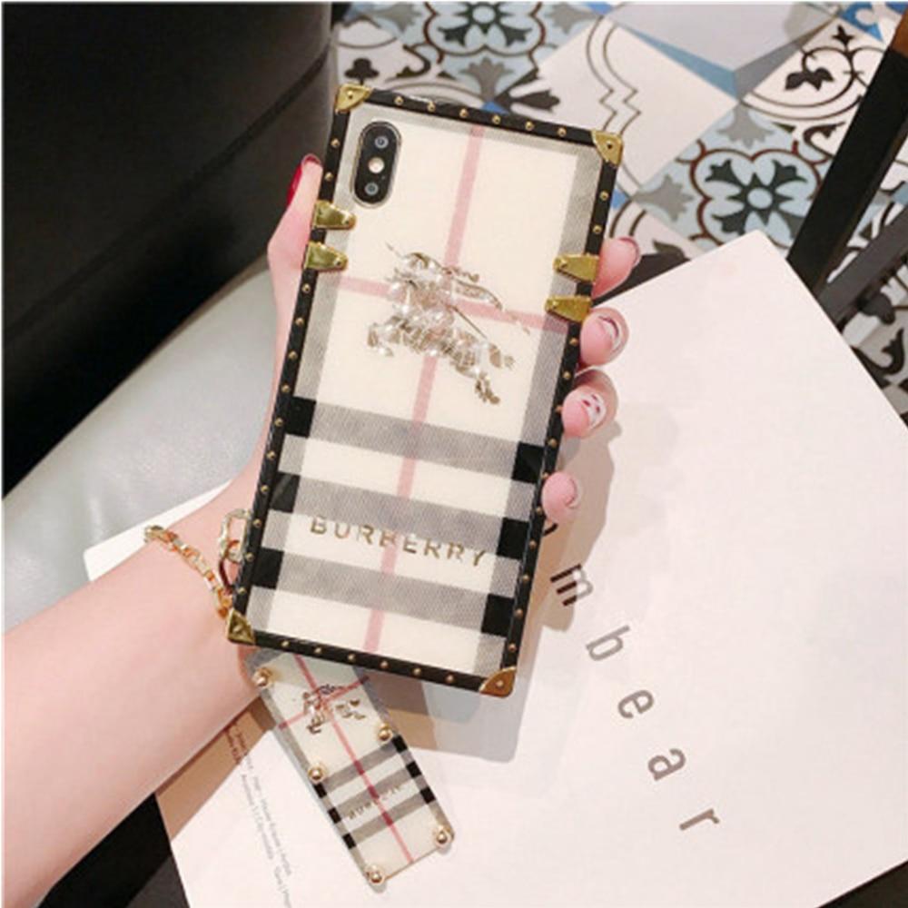 Burberry iphone caso de telefone móvel mulher tik tok apple 11pro max manga protetora maré marca silicone moda luxo