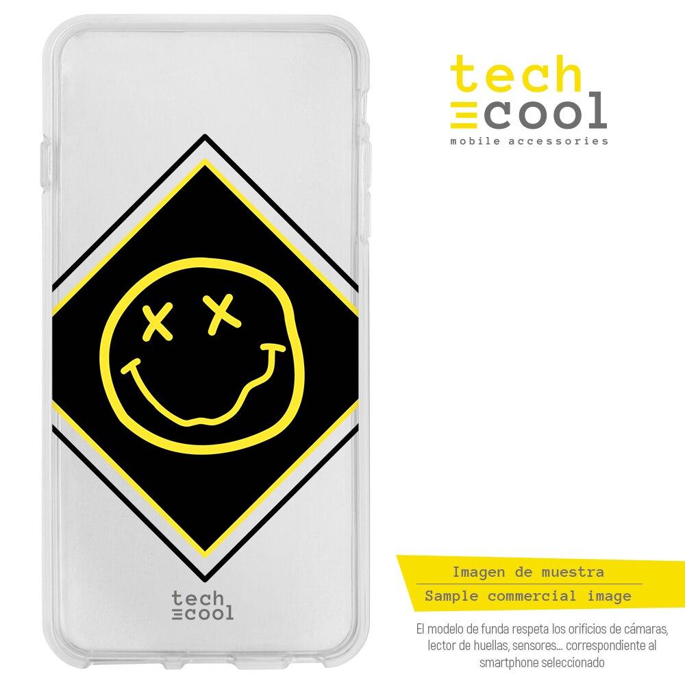 FunnyTech® Funda Silicona para Iphone 5 / 5S / SE Música Grupo Nirvana vers transparente