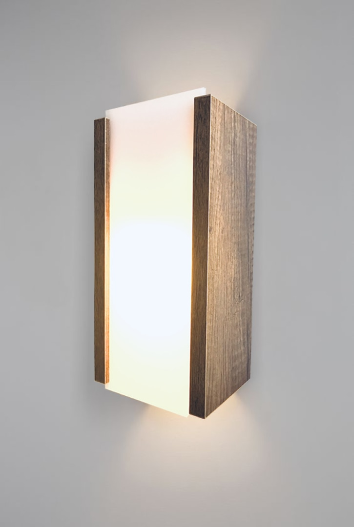 Темно-коричневый деревянный настенный светильник, бра из оргстекла, декоративный дизайн, освещение для дома, офиса, ресторана, рабочего мес...