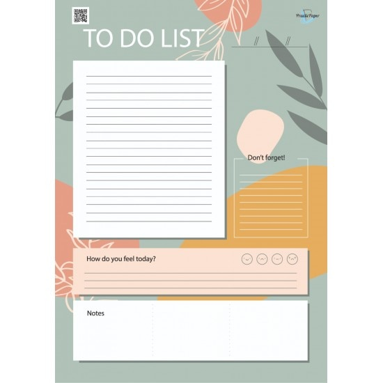 Practicpaper A4 Table Calendar With Weekly Planner And To-do List Daily Schedule Chart With Calendar Board List Activity Flat