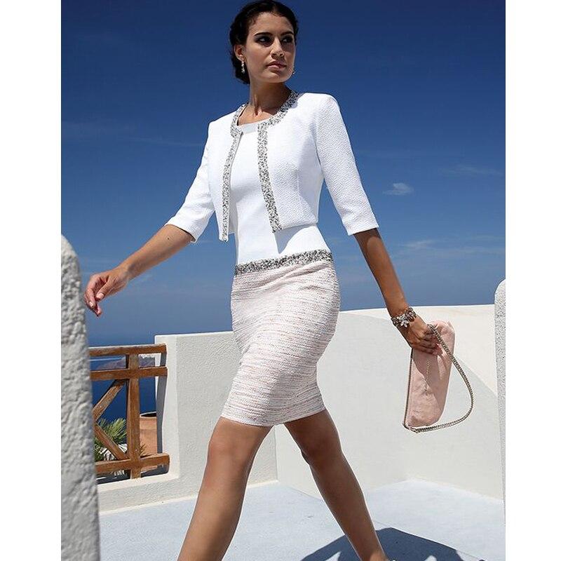 Vestidos de madre de novia para boda, manga 3/4 hasta la rodilla,...