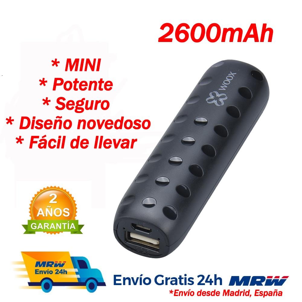 Мини банк питания Carga rаpida Bateria externa movil Cargador móvil con кабель USB o Tipo C Blanco/Negro/Gris/Plata powerbank Plaza