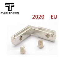20 pièces/lot T Slot L forme Type avec M4 vis 90 degrés 2020 ue aluminium profil accessoires à lintérieur coin connecteur support