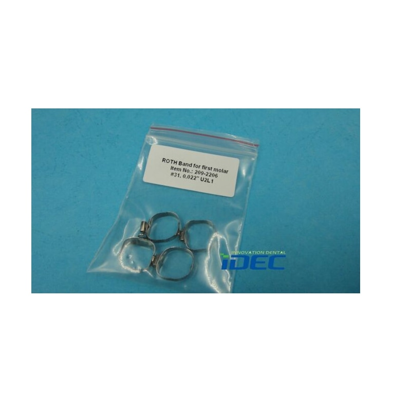 ROTH Band for 1st molar double tube dental pre-welded bands Dental Orthodontics accessory #31 20PCS