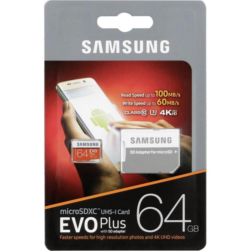 Samsung Micro Sd Tarjeta Hc Evo Plus 64 Hard Gb Klasse 10 + Adapter-Sd Hc-Originele
