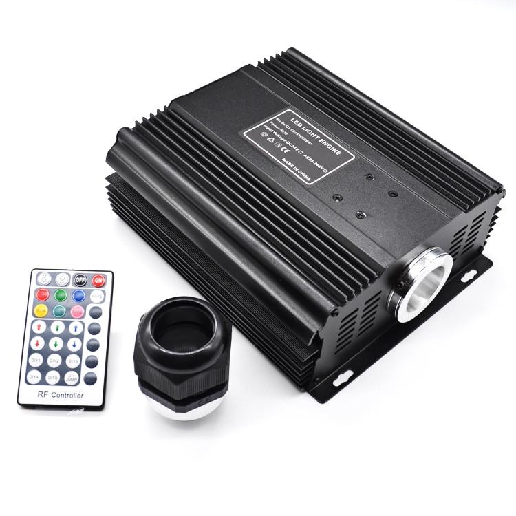 DMX 45W RGB Fiber Optic Engine RF Remote Control LED Light Source  for Optical Fiber Cable Ceiling Lighting Driver
