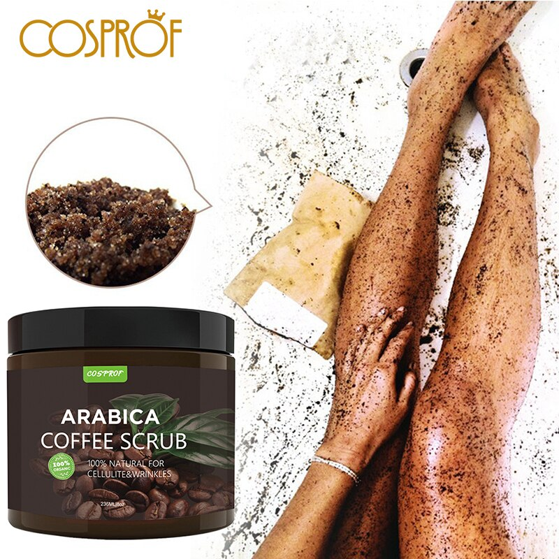 Cosprof Coffee Scrub Body Scrub Cream Facial Dead Sea Salt For Exfoliating Whitening Moisturizing Anti Cellulite Treatment Acne недорого