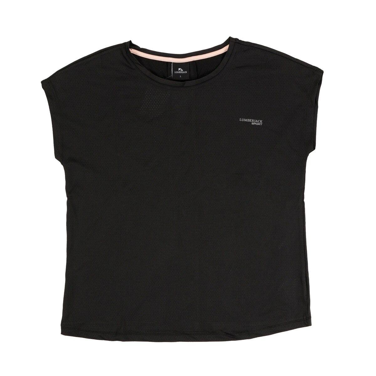 FLO W-1827 TYBALT KK camiseta mujer negro camiseta LUMBERJACK