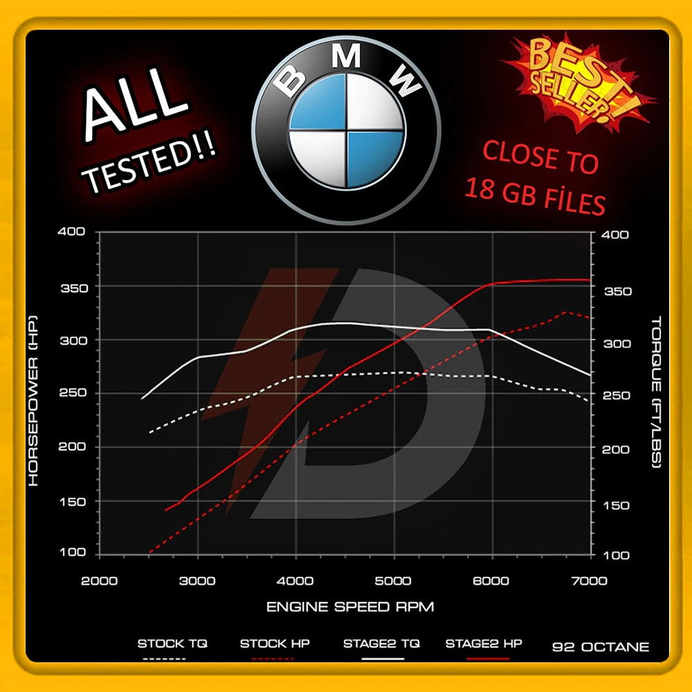 AliExpress - FOR Bmw  ECU Map Tuning Files CLOSE TO 17 GB  Stage 1 + Stage 2  Remap Files Collection TESTED chip tuning