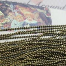 ¡Envío Gratis! 100 m/lote 1,5mm bola tono bronce Cadena de joyería resultados(China)